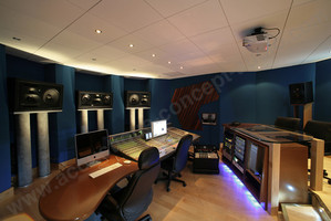 conception construction studio régie cabine voix speak acoustique concept audio