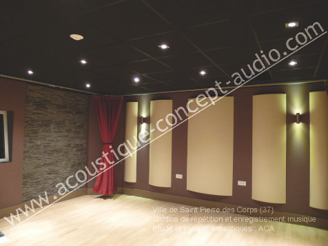 conception construction studio acoustique concept audio
